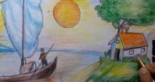 بالصور رسم منظر طبيعي للاطفال , مناظر طبيعية مرسومه للاطفال جذابة 5238 7 310x165