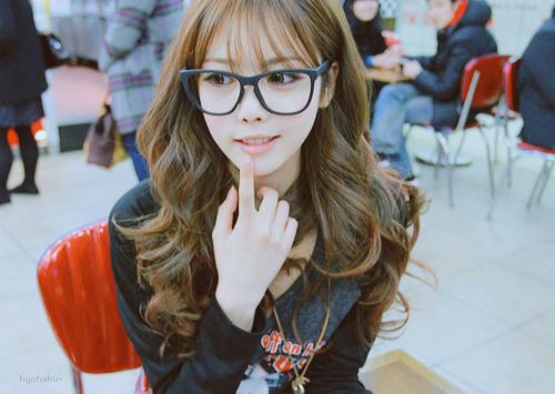 بالصور بنات كوريات كيوت بالنظارات , اجمل وارق البنات فى كوريا 6724 6