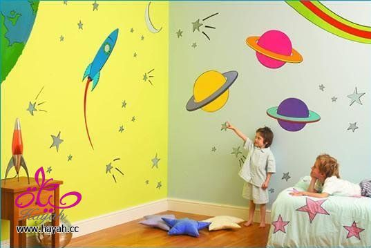 بالصور ديكور حوائط , صور ديكورات حوائط غرف الاطفال 3699 2