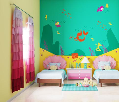 بالصور ديكور حوائط , صور ديكورات حوائط غرف الاطفال 3699