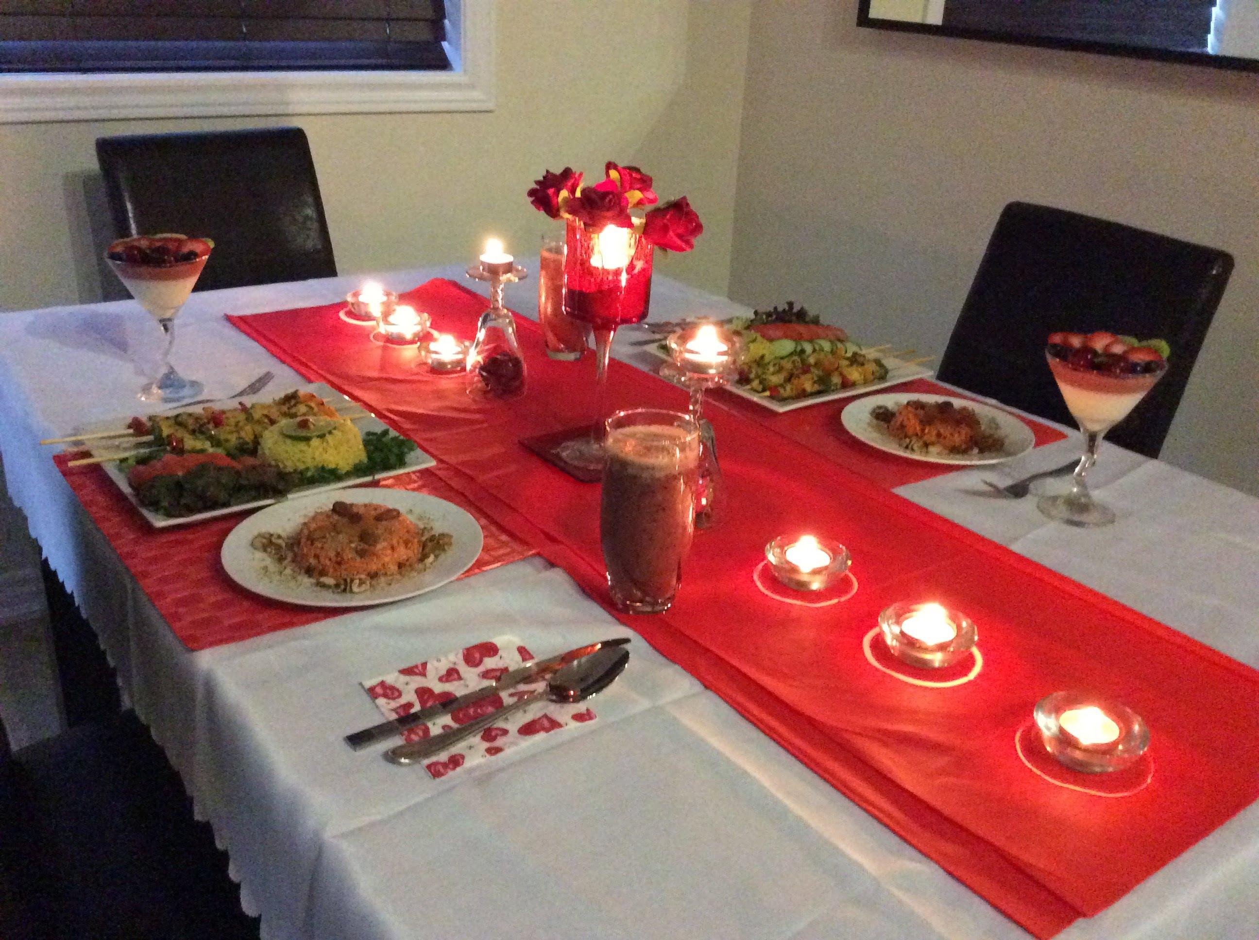 صور عشاء رومانسي في البيت , افكار لطاولات منزلية رومانسية