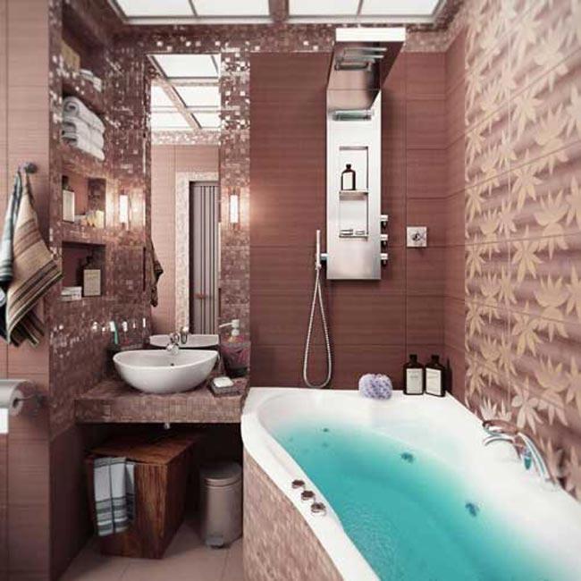 صور ديكور حمامات منازل , تصميمات دورات مياة منوعة