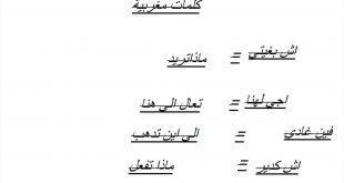 صورة كلمات مغربيه , كلام من المغرب العربى