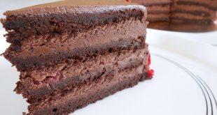 صورة طريقة عمل الكيك بالشوكولاتة سهلة , اسهل كيك شيكولاتة