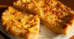 صورة طريقة عمل فطيرة التفاح , اسرع واشهى طريقة تحضير حلوى التفاح