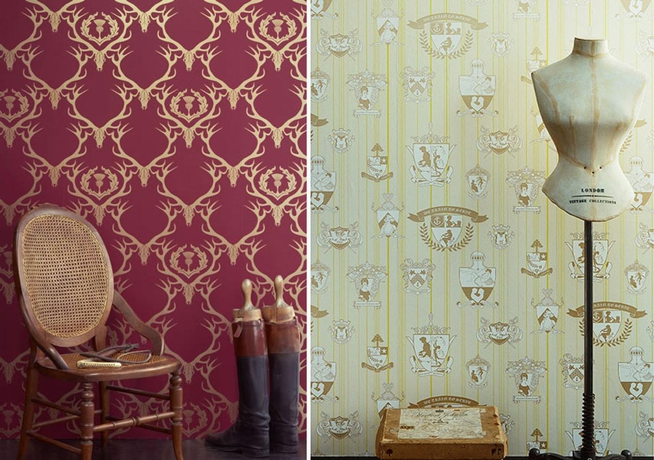 صورة ورق جدران لغرف النوم , اجمل واروع روسمات لورق الحائط