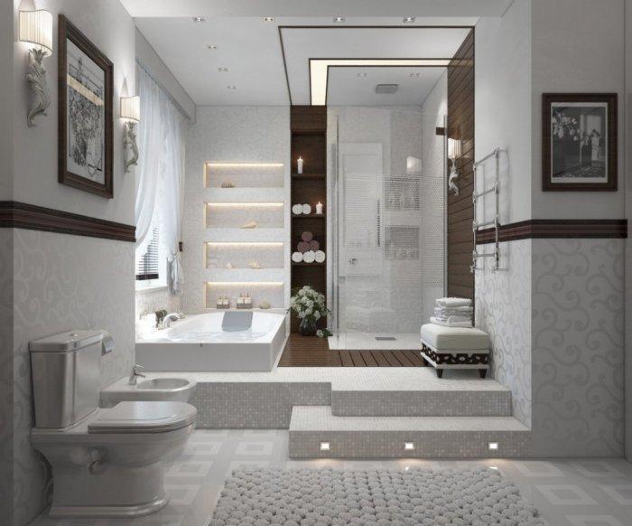 بالصور حمامات مودرن , ديكورات حمامات جميلة 2019 633 4