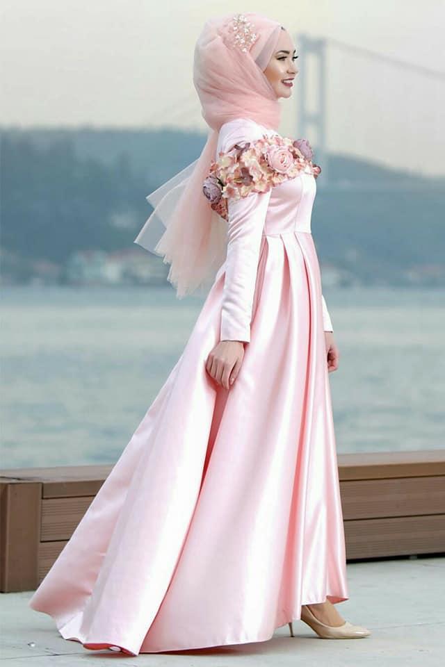 بالصور فساتين سواريه بسيطه وشيك للمحجبات , اجمل الفساتين السواريه للمحجبات 6440 1