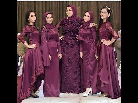 بالصور فساتين سواريه بسيطه وشيك للمحجبات , اجمل الفساتين السواريه للمحجبات 6440 10