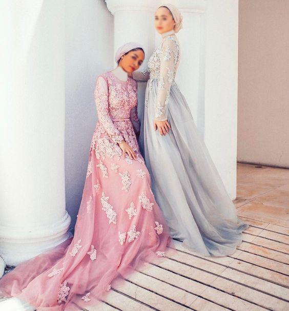 بالصور فساتين سواريه بسيطه وشيك للمحجبات , اجمل الفساتين السواريه للمحجبات 6440 2
