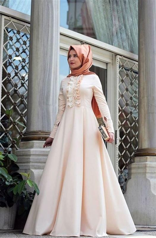 بالصور فساتين سواريه بسيطه وشيك للمحجبات , اجمل الفساتين السواريه للمحجبات 6440 3
