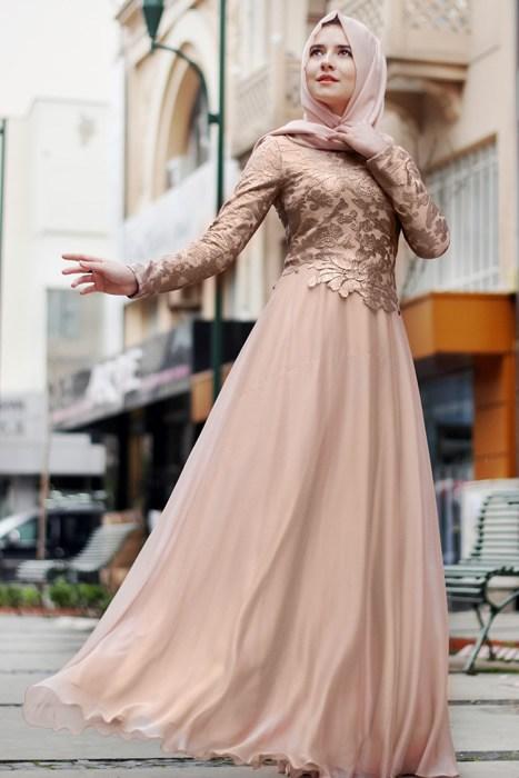 بالصور فساتين سواريه بسيطه وشيك للمحجبات , اجمل الفساتين السواريه للمحجبات 6440 6
