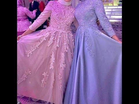بالصور فساتين سواريه بسيطه وشيك للمحجبات , اجمل الفساتين السواريه للمحجبات 6440 7