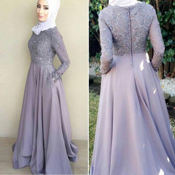 بالصور فساتين سواريه بسيطه وشيك للمحجبات , اجمل الفساتين السواريه للمحجبات 6440 8