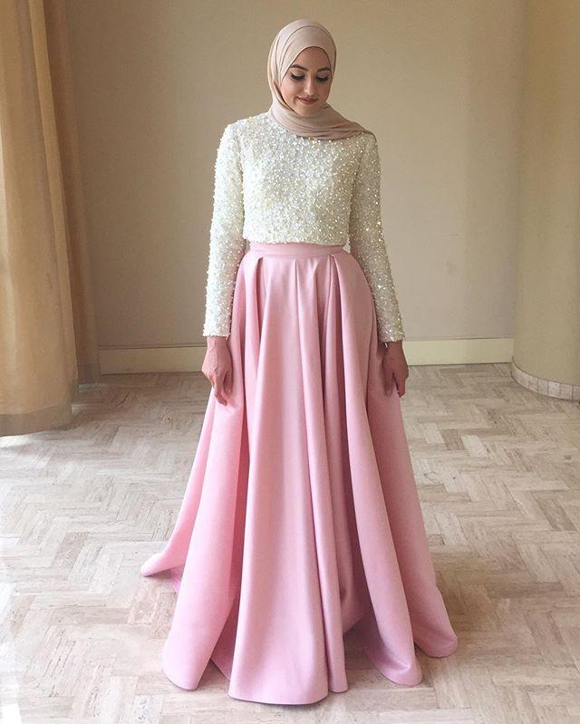 بالصور فساتين سواريه بسيطه وشيك للمحجبات , اجمل الفساتين السواريه للمحجبات 6440 9