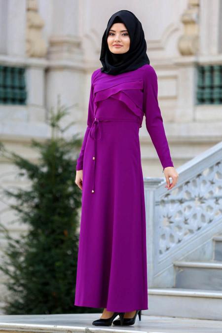 بالصور فساتين سواريه بسيطه وشيك للمحجبات , اجمل الفساتين السواريه للمحجبات 6440
