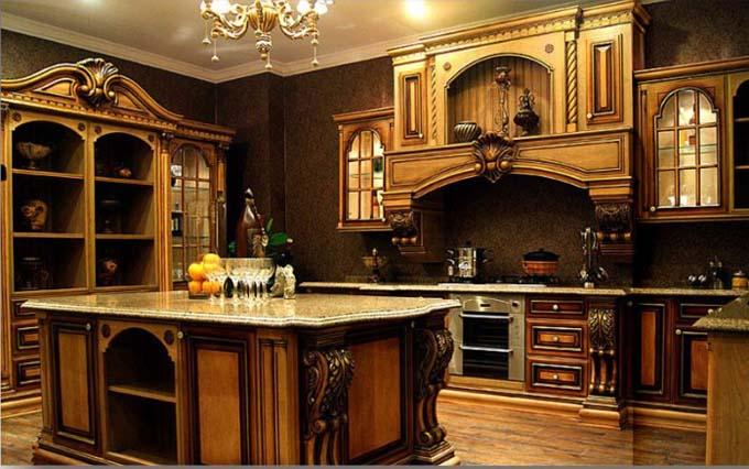 بالصور الوان مطابخ خشب , اجمل الالوان للمطابخ الخشب 6478 5