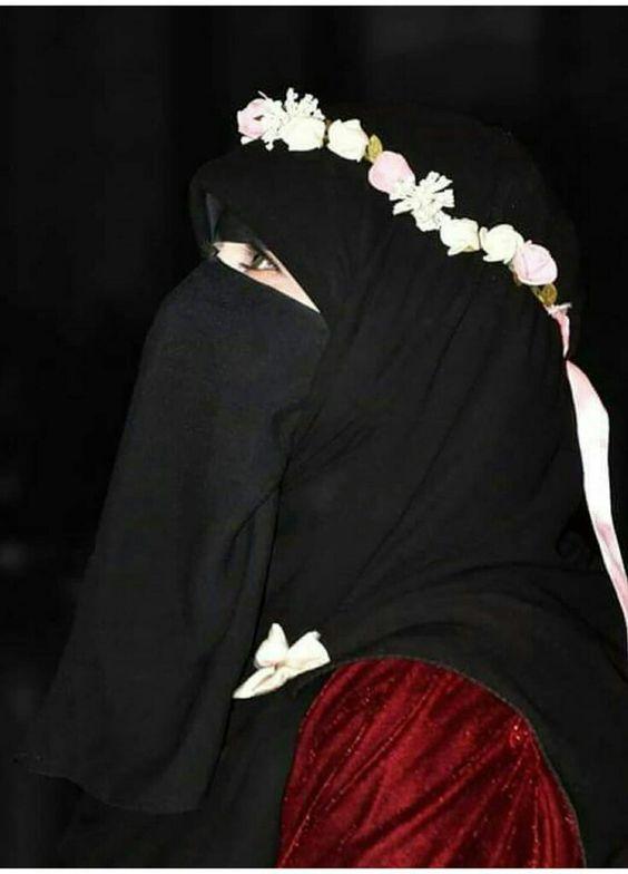 صورة صور بنات منقبات , انتى اجمل بنقابك سيدتى