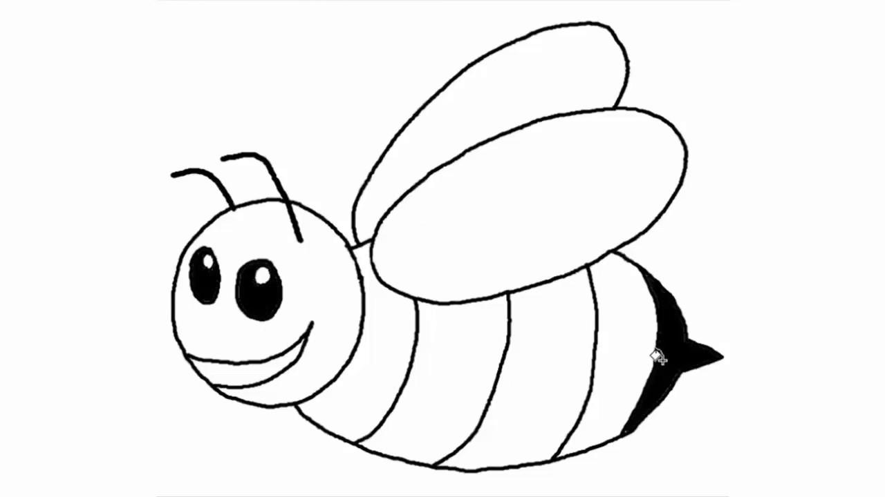 صورة صور نحلة للتلوين , رسومات جميله لحشره النحله