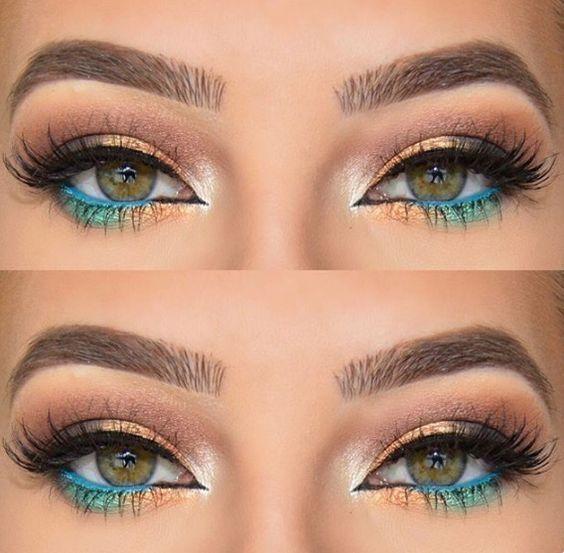 صورة كيف ترسم العين بالمكياج . اسهل طريقه لرسم العين