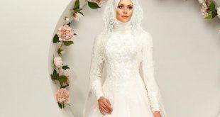 صورة فساتين الزفاف للمحجبات , تالقى فى ليليه العمر باجمل فستان