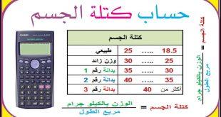 صورة حساب كتلة الجسم والوزن المثالي , احدث وسيلة لقياس الوزن والطول